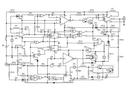 circuito electronico: Diagrama esquem�tico - proyecto de circuito electr�nico