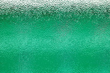 frosted: corrugated and translucent glass of window - green colored