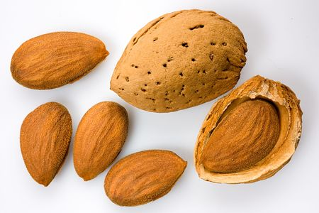 alimentation: italian almonds - dried fruit for mediterranean alimentation Stock Photo