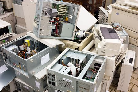 waste electrical and electronic equipment, cause of serious health and pollution problems photo