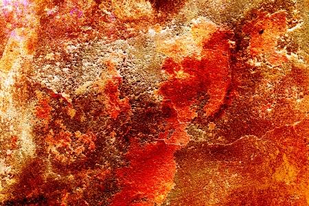 wand graffiti: alte Mauer mit zerkratzt Putz und �berreste von Farbe und Graffiti