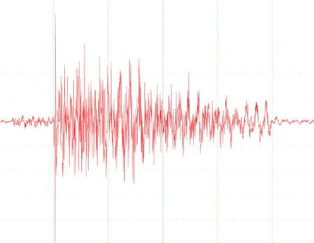 earthquake: a chart of a seismograph - symbol for measurement - earthquake wave graph - audio wave diagram
