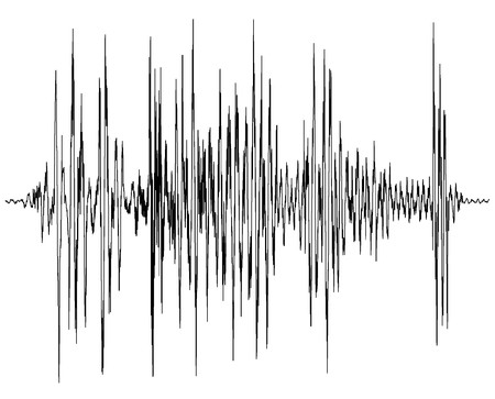 audio wave diagram - a chart of a seismograph - symbol for measurement - earthquake wave graph  Stock Photo - 7608127