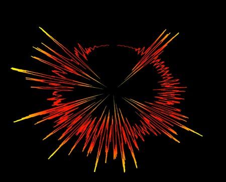 oscilloscope: onda sonora esplosione - raggi bang elettronico oscilloscopio audio grafici diagramma grafico