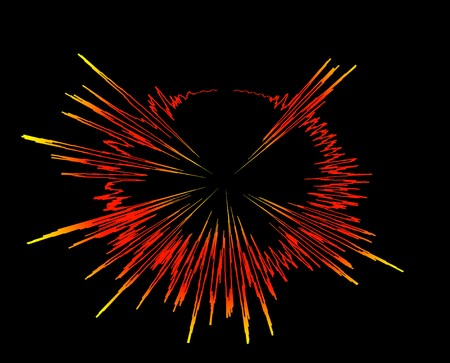 sound wave explosion - rays bang electronic graphic audio oscilloscope diagram graph Stock Photo - 7608126