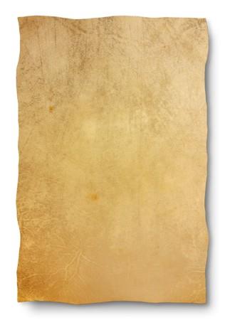 edicto: cabra piel pergamino - hoja en blanco para el mapa y antiguo banner - cuero vac�o textura Fondo para signo de antig�edad, el edicto, el manuscrito  Foto de archivo