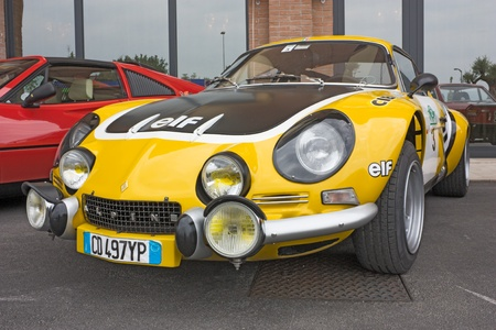 Alpine Renault A 110 exposed at 22^ rally Colline di Romagna on July 2 2011 in Forli