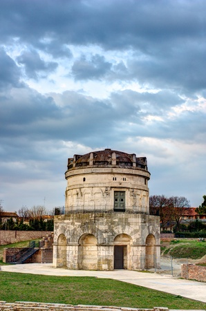 mausoleum: The mausoleum of Theodoric is an ancient monument of Ravenna, Italy  This italian landmark was built in 520 AD by the king Theodoric the Great as his future grave - HDR image
