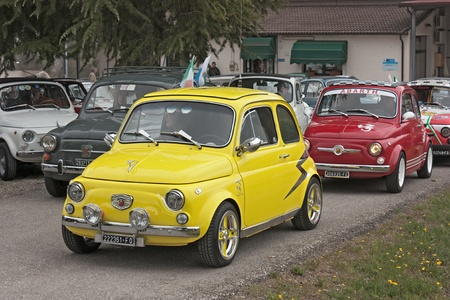 vintage italian sports car Fiat 500 Abarth at