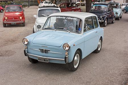 vintage small car Autobianchi 500 Bianchina at