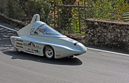 a soap box car race at european championship speed down on July 28, 2012 in Predappio Alta, FC, Italy