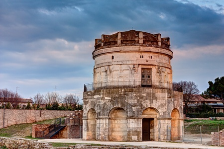 The mausoleum of Theodoric is an ancient monument of Ravenna, Italy