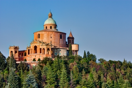 sanctuary of the Madonna di San Luca, antique church on the hill of Bologna, Italy  Stock Photo