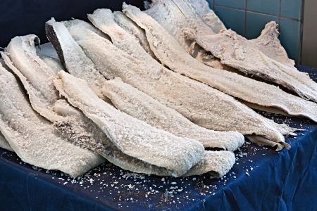 codfish: dried salted cod, fillets of fish preserved in salt