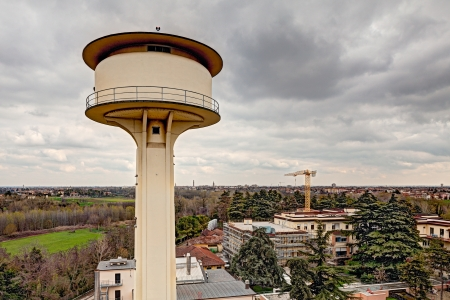 the water tower: water tower of aqueduct - water supply of the city