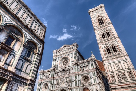 The cathedral Saint Mary of the Flower  italian  Basilica di Santa Maria del Fiore , the main church of Florence, Italy photo