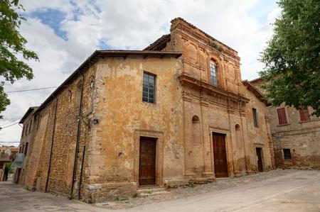 bevagna: The antique catholic medieval church of S. Maria filiorum Comitis, the oldest ancient of Bevagna, Umbria, Italy