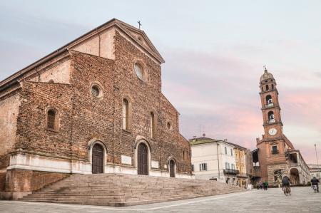 ravenna: the renaissance catholic cathedral of Faenza, town of ceramics, in Emilia Romagna, Italy