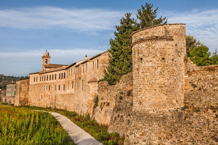 bevagna: the medieval city walls of the ancient town Bevagna, Umbtia, Italy