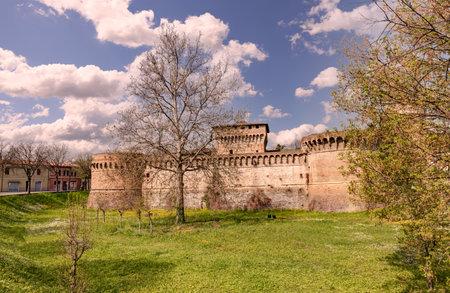 fortify: castle of Forli, medieval landmark in Emilia Romagna, Italy   Editorial