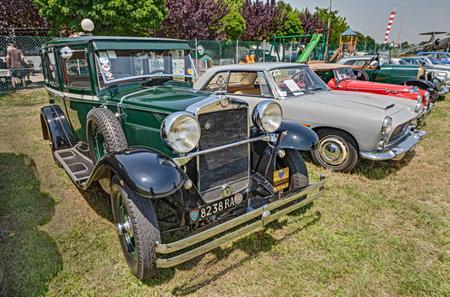 italian car: old italian car Fiat 521 C  1929  exposed at festival  Belle Epoque  of Aero Club Lugo on June 7, 2014 in Lugo, RA, Italy