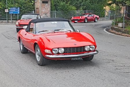 e 27: vintage Fiat Dino Spyder in rally 3� Raduno auto e moto d epoca di Villafranca  on July 27, 2014 in Forli , Italy