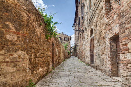 city alley: narrow alley in Colle di Val d Stock Photo