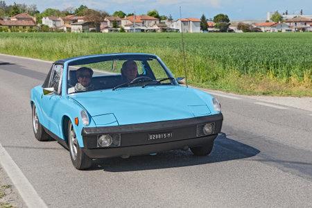 italian car: vintage italian car Fiat X19 at the rally for classic cars  \\\Raduno auto e moto d\\