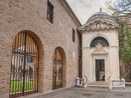 ravenna: Ravenna, Italy, tomb of the italian poet and writer Dante Alighieri Editorial