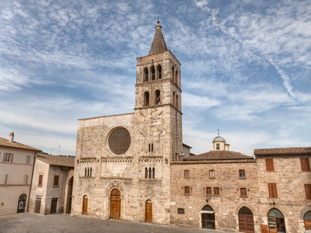 bevagna: The antique catholic romanesque church of S. Michele Arcangelo in Bevagna, Umbria, Italy