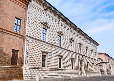 influential: Palazzo dei diamanti (diamonds palace) in Ferrara, one of the most famous ancient palaces in Italy as well one of the most influential examples of european renaissance architecture.