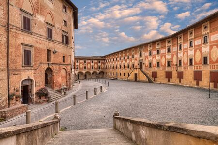 Old catholic theological seminary in San Miniato, a beautiful ancient town in the province of Pisa, Tuscany, Italy.