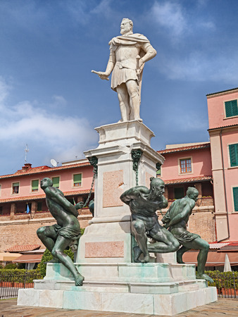 monument historical monument: The Monument of the Four Moors in Leghorn italian: Monumento dei quattro mori in Livorno Tuscany Italy. This marble and bronze sculpture is dedicated to Ferdinando I de Medici and represents the victory over the Turkish and African pirates.