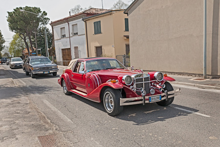 neoclassic: luxury neoclassic american car Zimmer Golden Spirit 1982 in Raduno auto e moto depoca on April 25, 2015 in Traversara, RA, Italy Editorial