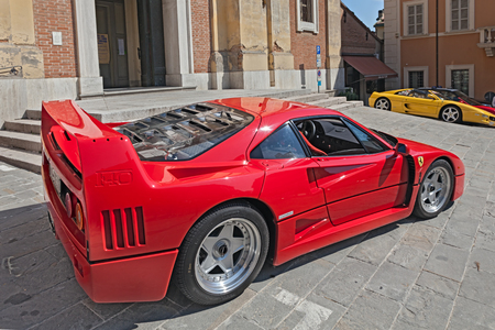 coachwork: italian sports car Ferrari F40 parked during the rally Trofeo Lorenzo Bandini, a meeting dedicated to the great Italian driver of Formula One of the 60s, on August 31, 2013 in Brisighella, RA, Italy