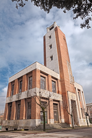 rationalist: the former Casa del Fascio, was made build by Benito Mussolini in 1934, is a representative building of italian rationalist architecture. March 7, 2013, in Predappio, Italy