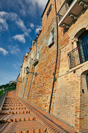 old building: old building and flight of stairs in the mediterranean town Vasto, Abruzzo, Italy