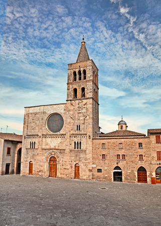 bevagna: The ancient catholic romanesque church of S. Michele Arcangelo in Bevagna, Umbria, Italy
