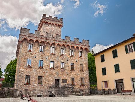 praetorian: Praetorian palace in Firenzuola (Florence), ancient town in Tuscany, Italy