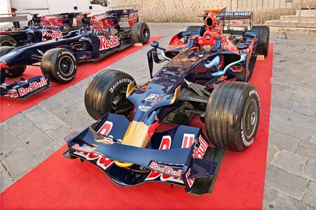formula one racing: the Formula One racing car Toro Rosso STR3, It was driven by S. Vettel to victory in the Italian Grand Prix 2008, exposed during the meeting Trofeo Lorenzo Bandini, on July 17, 2016 in Brisighella, RA, Italy