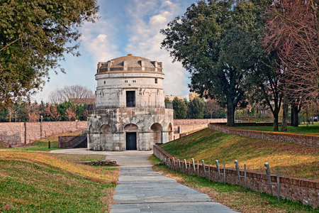 Ravenna, Italy: the mausoleum of Theodoric, ancient monument built in 520 AD by the king Theodoric the Great as his future grave