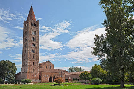 Pomposa Abbey in Codigoro, Ferrara, Emilia-Romagna, Italy, a medieval Benedictine monastery, It was one of the most important in northern Italy Stock Photo