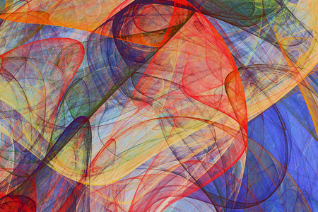abstract background of colorful fluttering veils - colored psychedelic painting artwork