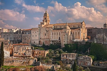 Gravina in Puglia, Bari, Italy: landscape of the old town with the ancient Santa Maria Assunta cathedral