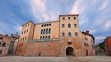 Bale, Istria, Croatia: the ancient castle Soardo-Bembo in the main square of the picturesque Croatian village near Rovinj