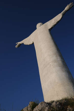 maratea: The Statue of the Redeemer or Christ the Redeemer is a colossal sculpture placed on the top of Mount San Biagio, Maratea above, in the province of Potenza.