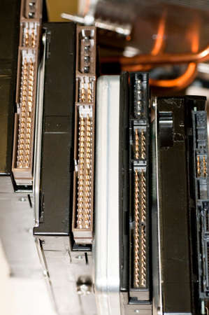 megabytes: details of hard disk drive with evidence of pin contact