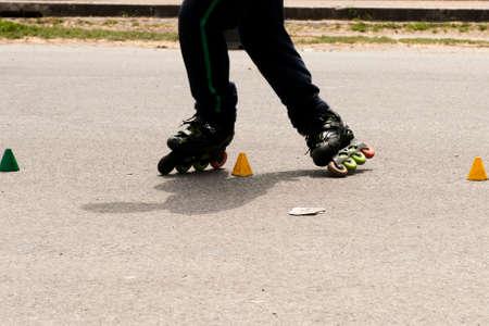 slalom: Slalom with Inline skates