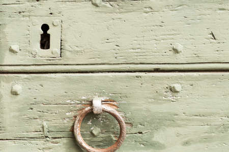 door handle: Detail of an old door and mediaval Stock Photo