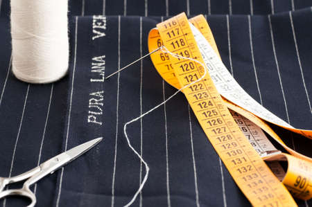 view of a tailored suit from a tailor in his studio